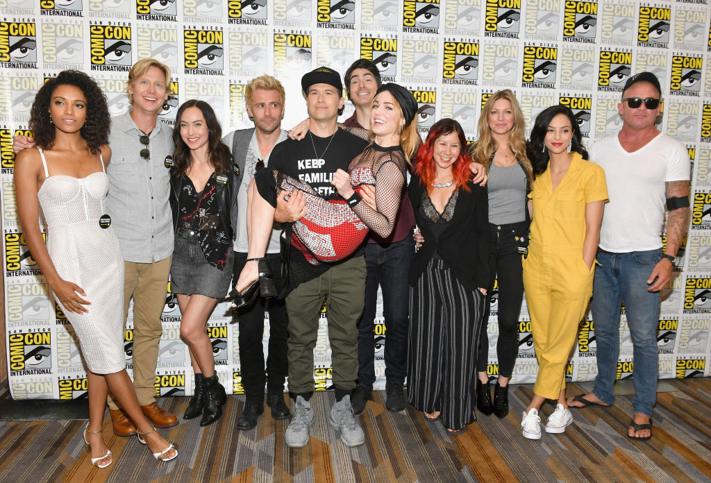 Legends of Tomorrow cast and writers at SDCC.