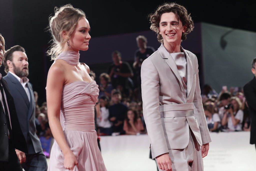 Lily Rose Depp and Timothée Chalamet