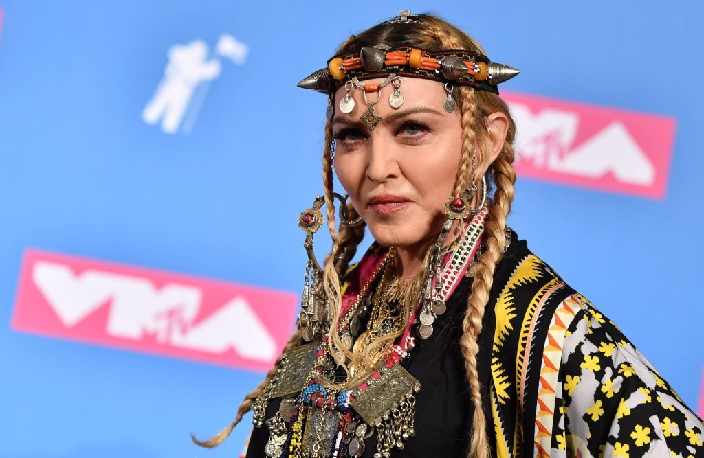Madonna poses for press photos at the MTV Video Music Awards