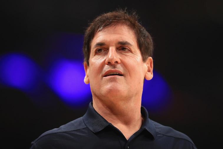 Mark Cuban at a basketball game