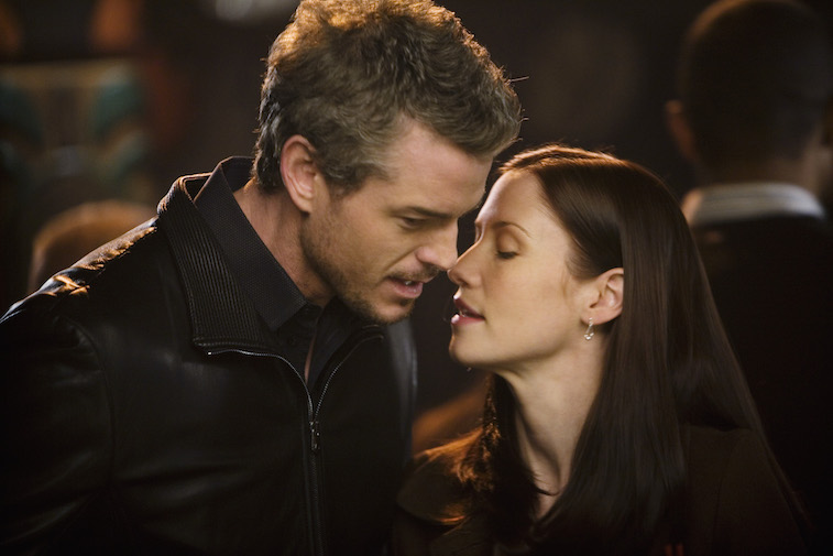 Mark and Lexie together in an episode of Grey's Anatomy