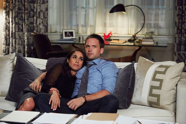 Meghan Markle and Patrick J. Adams on 'Suits'