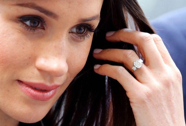Meghan Markle close up of ring.