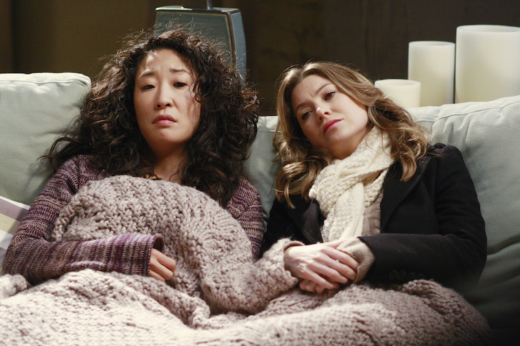 Meredith and Cristina together on Grey's Anatomy
