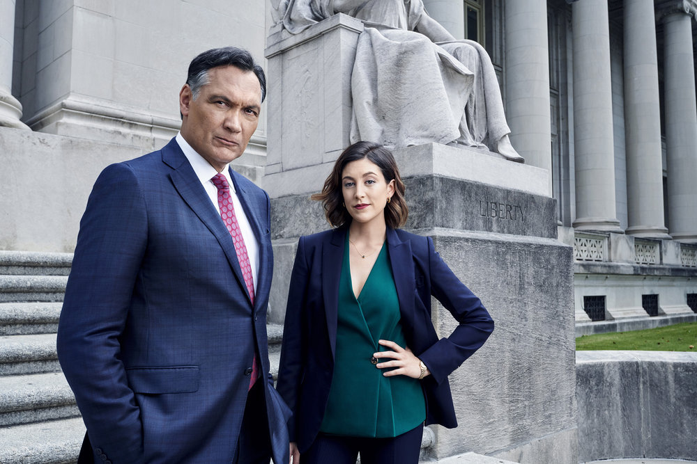 Jimmy Smits and Caitlin McGee