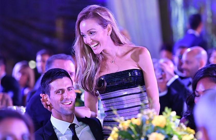 Novak Djokovic and Jelena Djokovic'