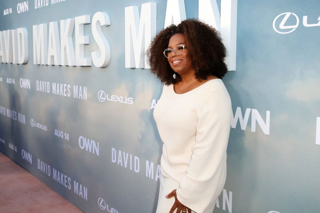 "Oprah Winfrey at ""David Makes Man"" event"