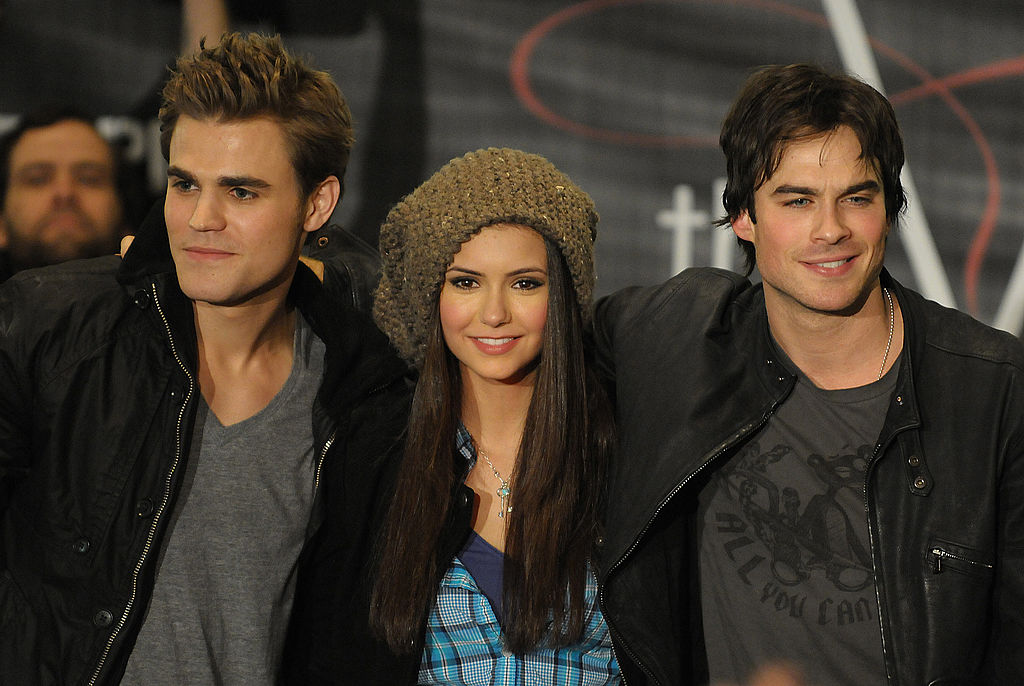 The Vampire Diaries cast (Paul Wesley, Nina Dobrev, Ian Somerhalder) in 2010