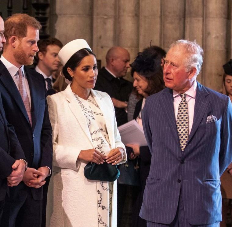 Prince Harry, Meghan Markle, and Prince Charles
