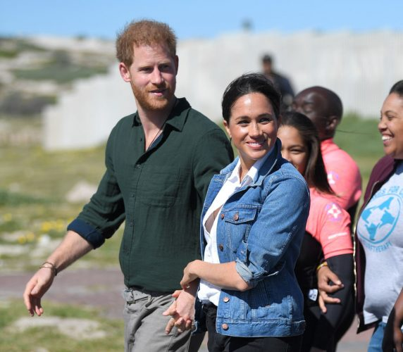 Meghan Markle and Prince Harry visit Waves for Change in South Africa.