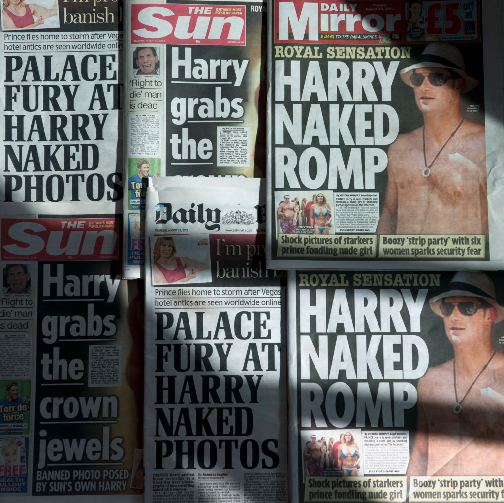Prince Harry newspapers