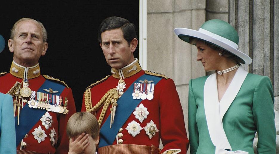 Prince Philip, Prince Charles, and Princess Diana