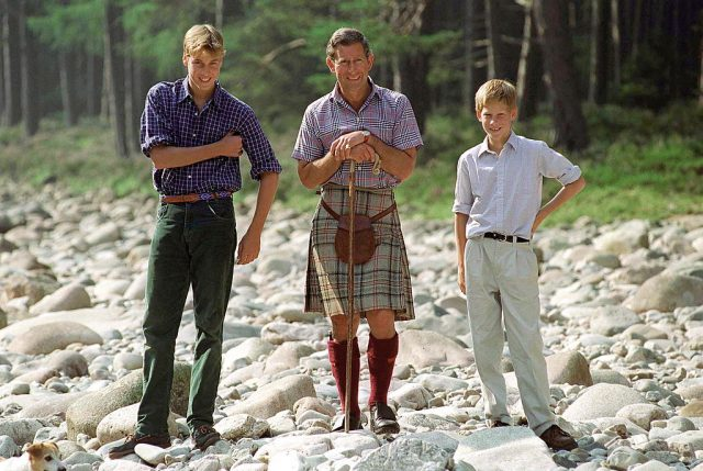 Prince Charles and sons.