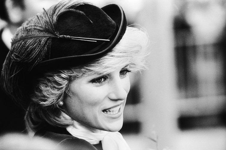 Princess Diana visiting Wales