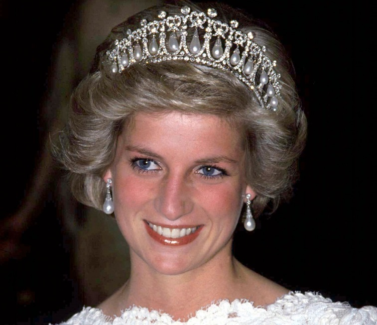 The Princess Of Wales wearing the Cambridge Knot Queen Mary Tiara
