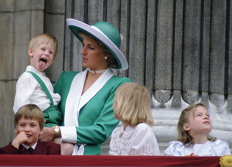 Princess Diana holds Prince Harry