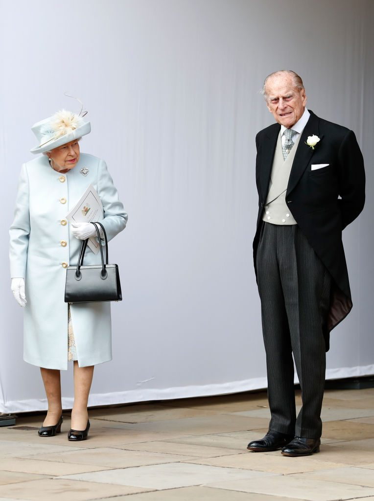 Queen Elizabeth and Prince Philip at Princess Eugenie's wedding