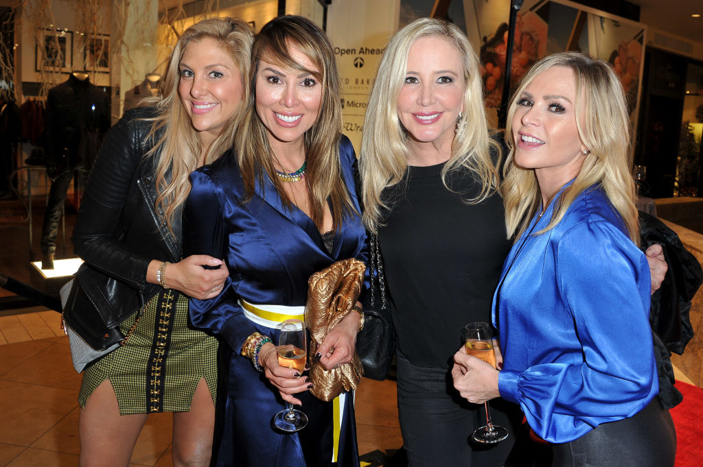 Gina Kirschenheiter, Kelly Dodd, Shannon Beador and Tamra Judge attend the House of Sillage Holiday Boutique Launch
