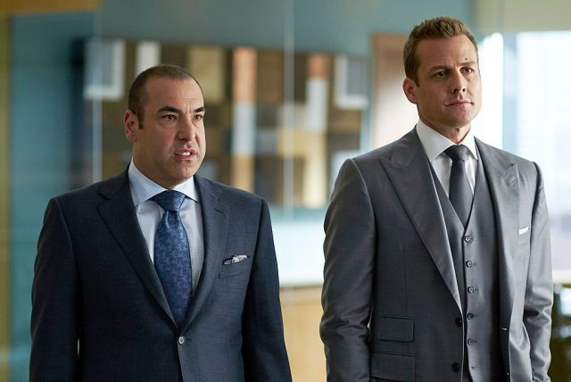 Rick Hoffman and Gabriel Macht in 'Suits.'