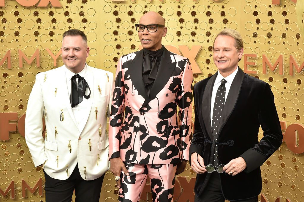 Ross Mathews, RuPaul and Carson Kressley attend the 71st Emmy Awards