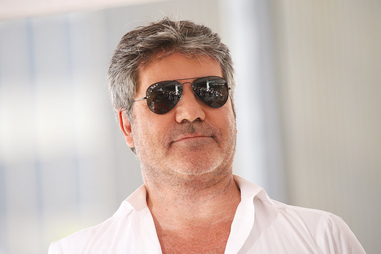 Simon Cowell wearing sunglasses