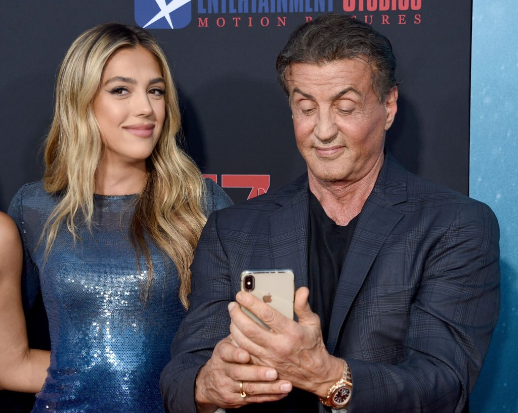 Sistine and Sylvester Stallone