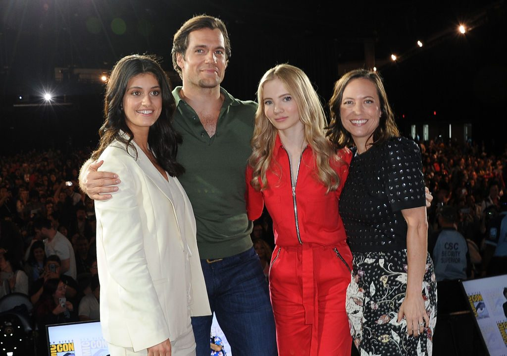 Cast members of the Netflix original 'The Witcher.' (L-R) Anya Chalotra, Henry Cavill, Freya Allan and Jodhi May