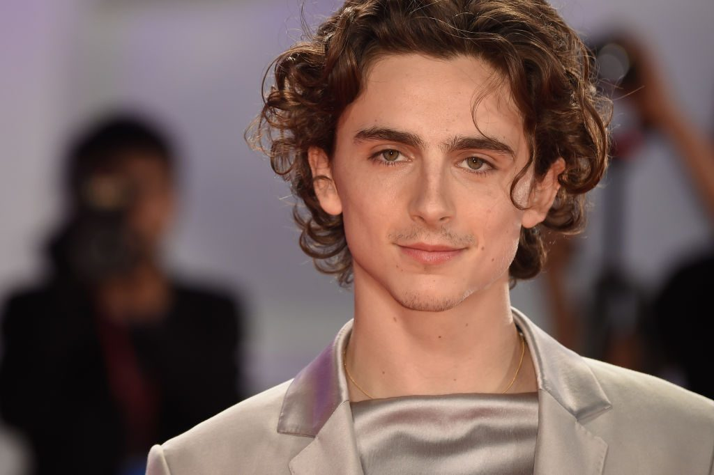 Timothee Chalamet close up