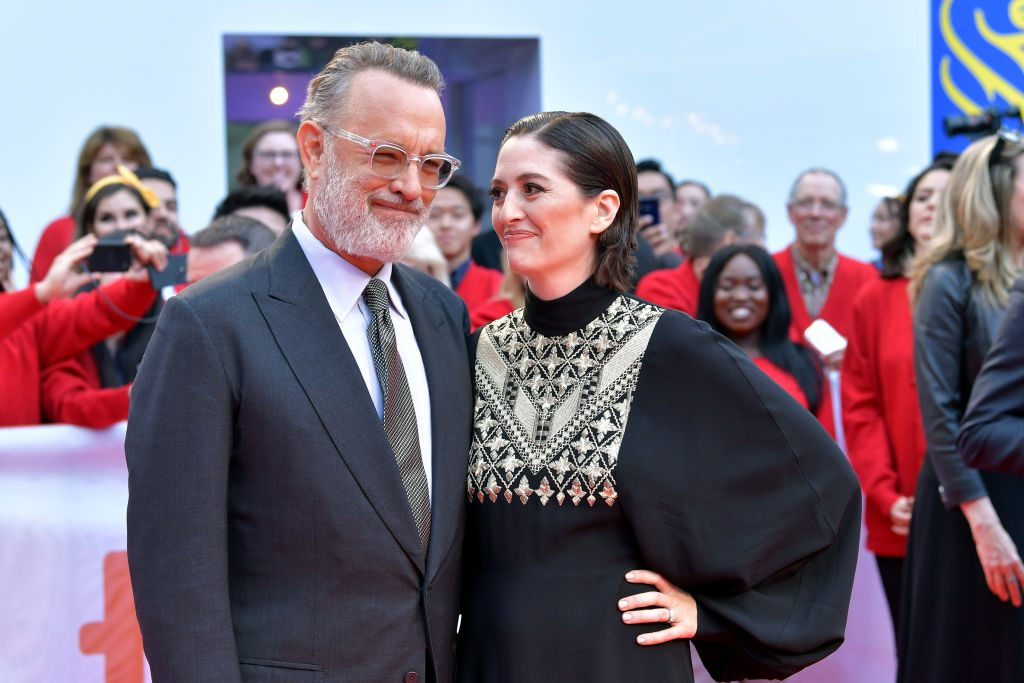 """Tom Hanks and Marielle Heller attend the """"A Beautiful Day In The Neighborhood"""" premiere during the 2019 Toronto International Film Festival"""