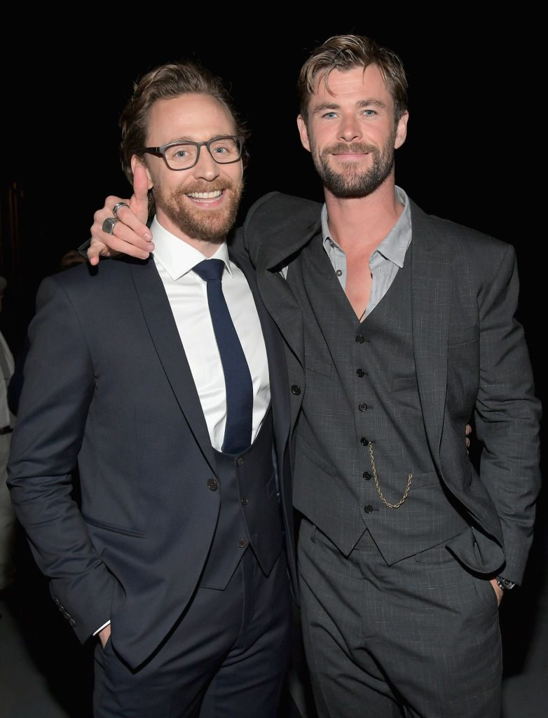 Tom Hiddleston and Chris Hemsworth of Thor