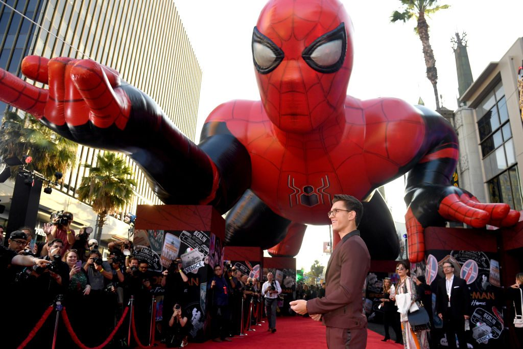 Tom Holland attends the premiere of Sony Pictures' 'Spider-Man Far From Home'