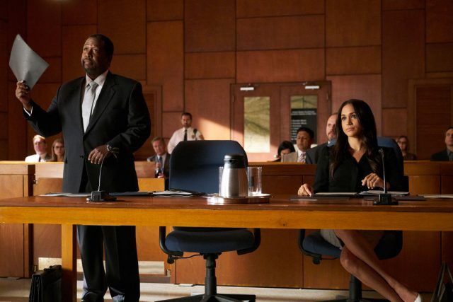 Wendell Pierce and Meghan Markle