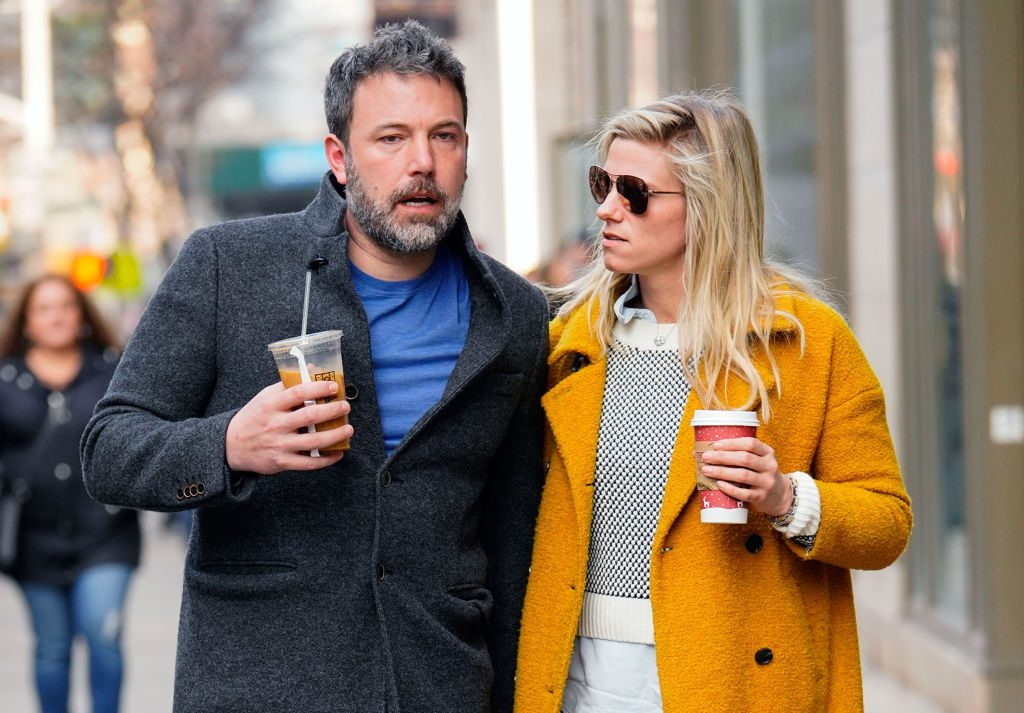 Ben Affleck and Lindsay Shookus on January 21, 2018, in New York City