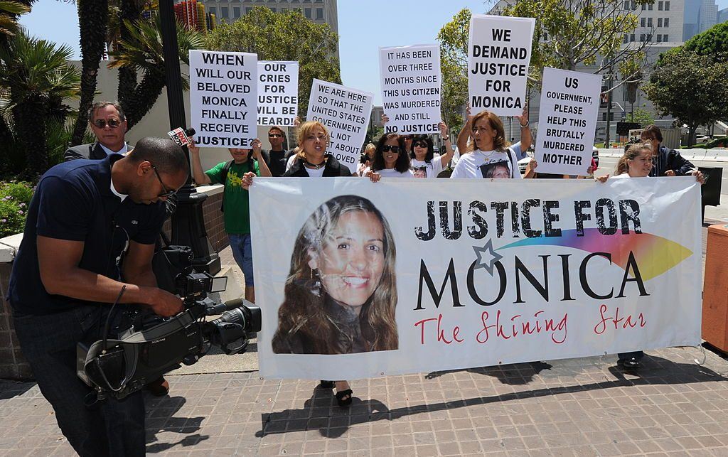 A protest for Monica Beresford-Redman
