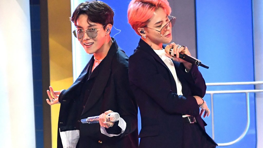 J-Hope and Jimin of BTS