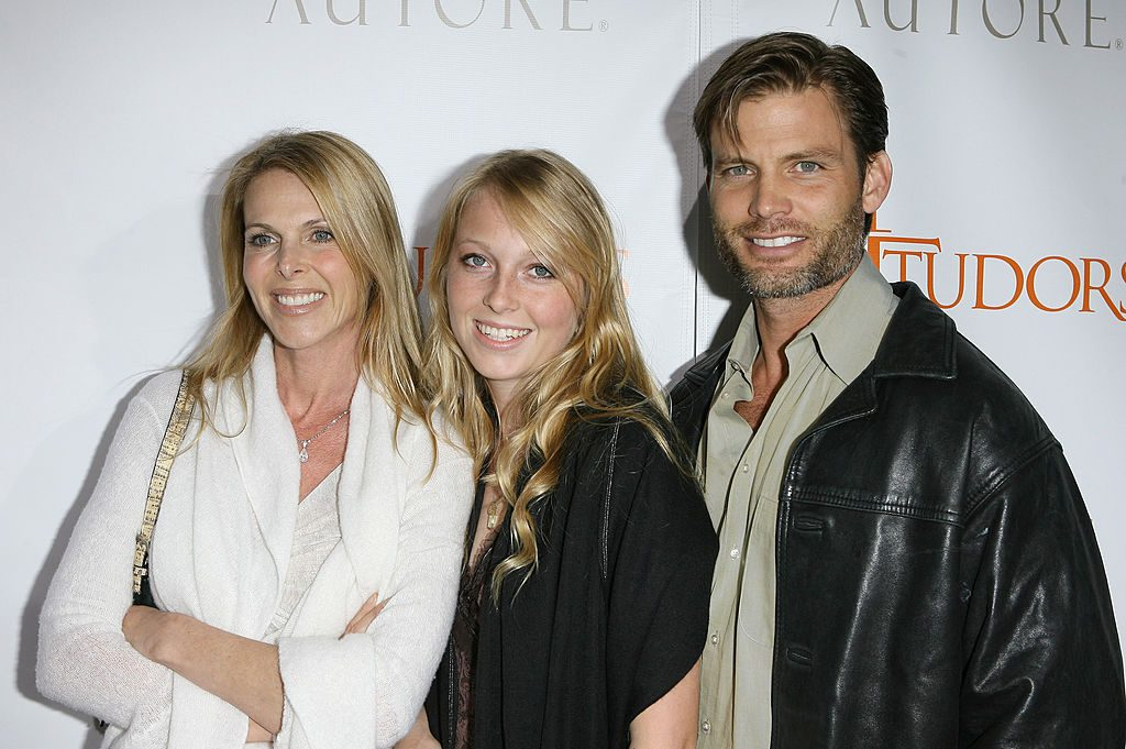 Casper Van Dien with Catherine Oxenberg and India Oxenberg