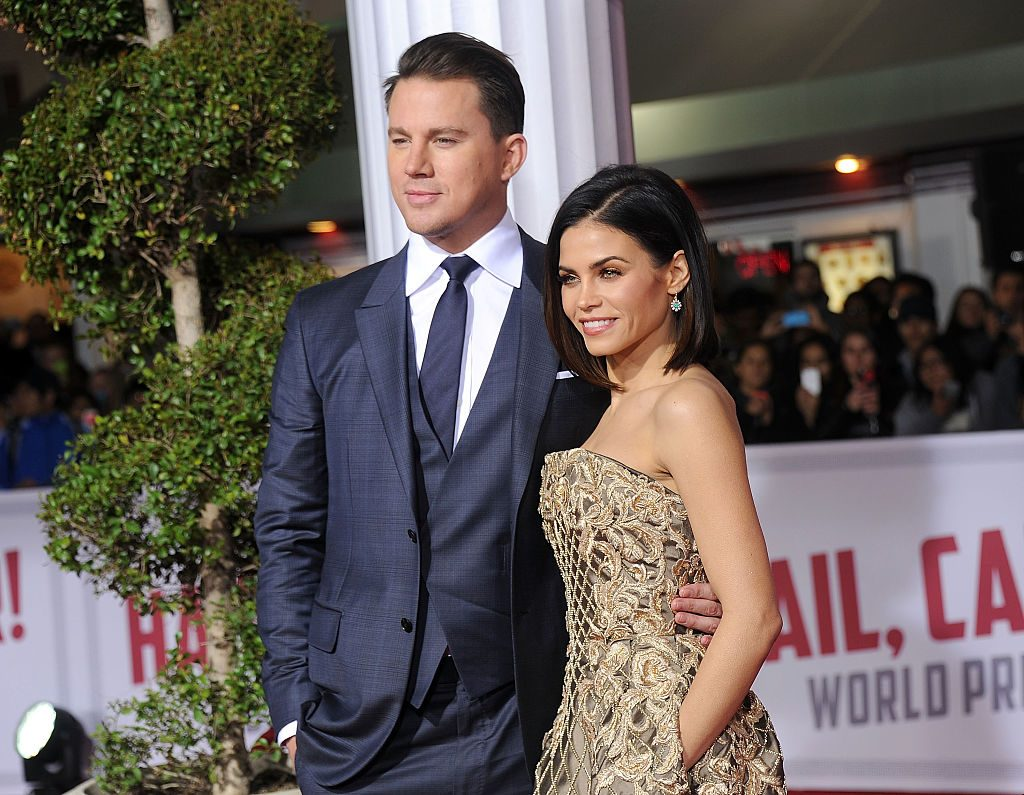 """Channing Tatum and Jenna Dewan at the premiere of """"Hail, Caesar!"""" on February 1, 2016"""