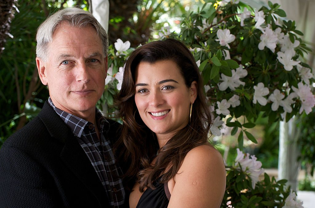 Mark Harmon and Cote de Pablo at an 'NCIS' press conference.