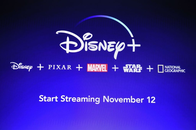 Screen showing Disney Plus logo