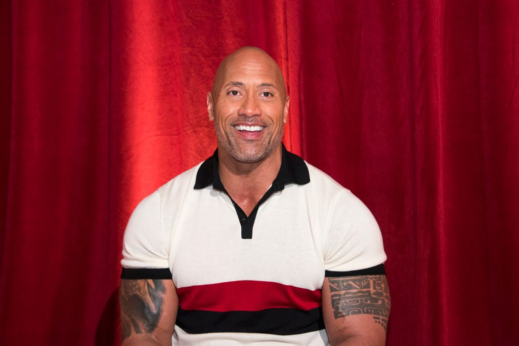 """Dwayne """"The Rock"""" Johnson at the 'Rampage' press conference."""