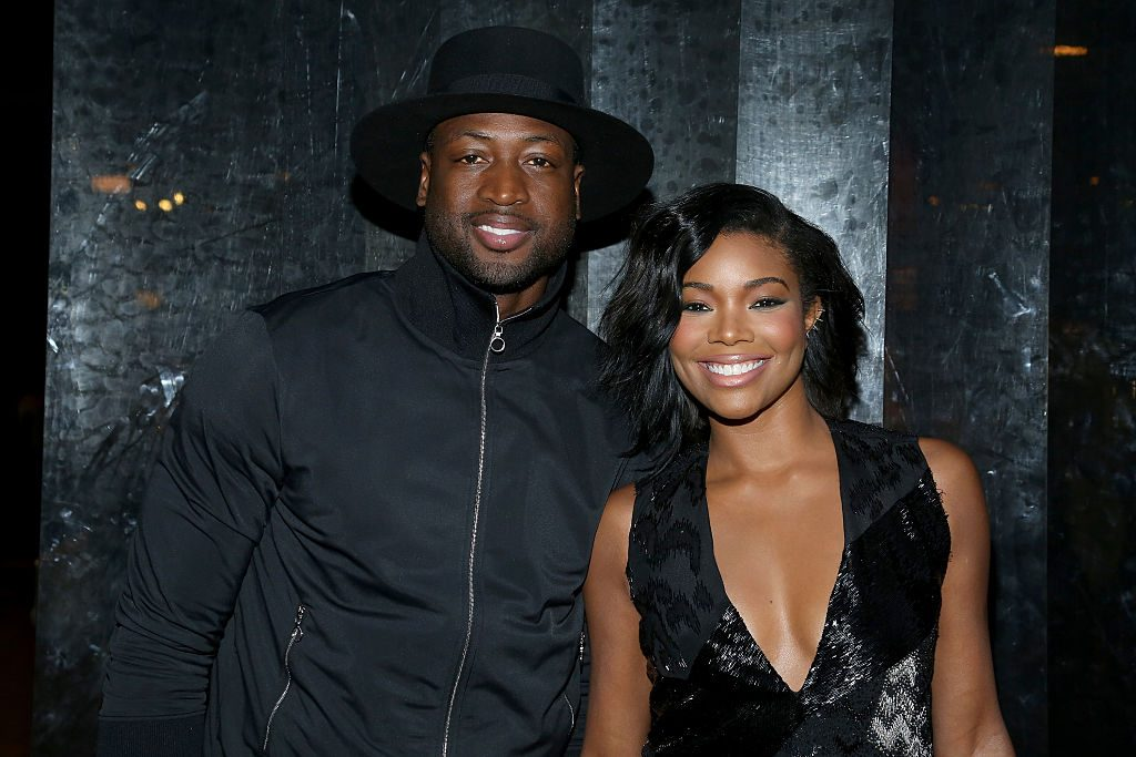 Gabrielle Union (R) and NBA player Dwyane Wade (L)