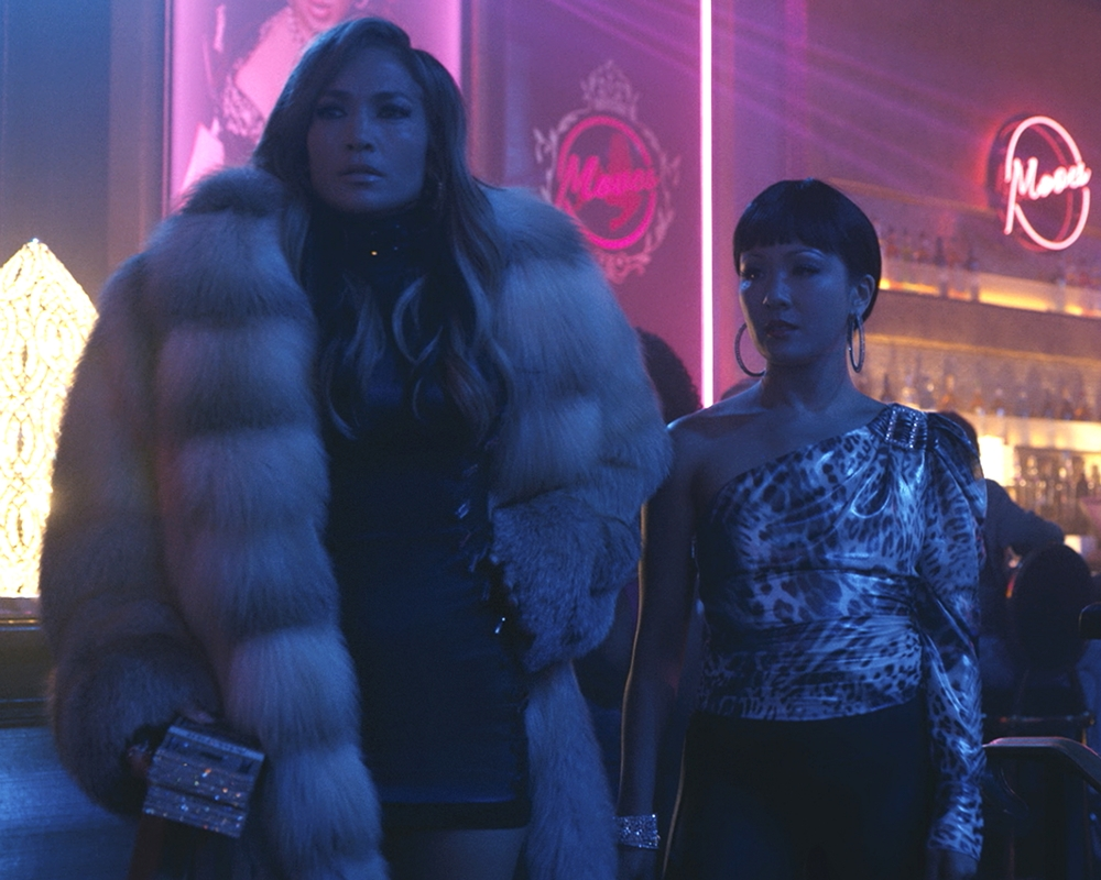 Jennifer Lopez and Constance Wu in Husters