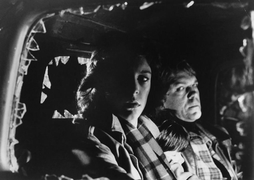 Jamie Lee Curtis and Nick Castle in a scene from The Fog