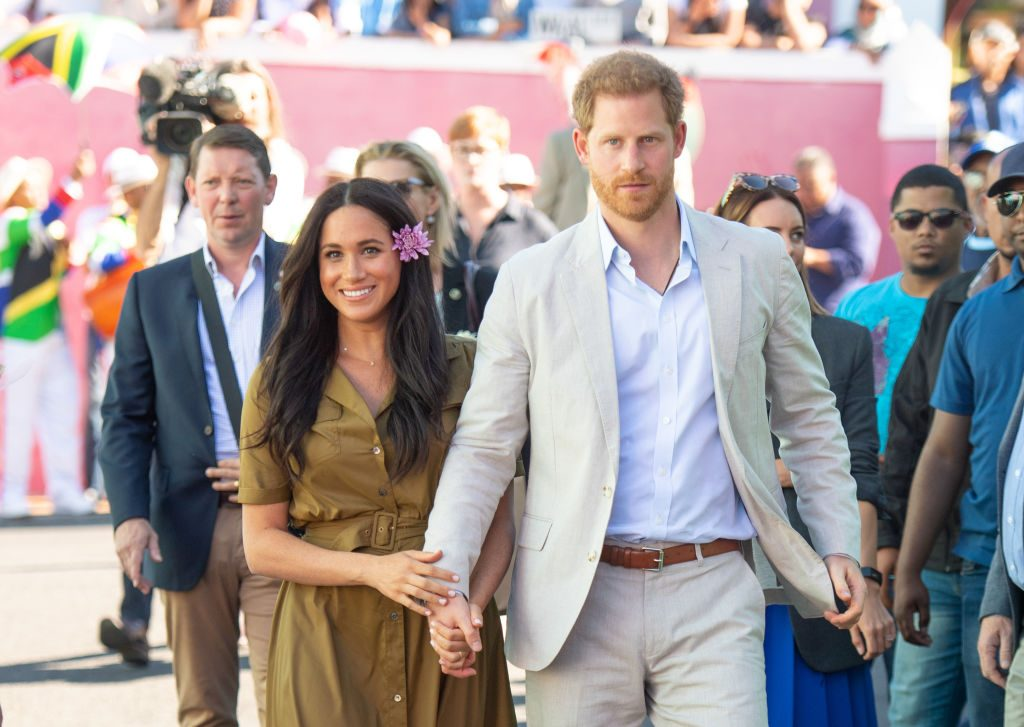 Prince Harry and Megan Markle during a royal tour in South Africa.