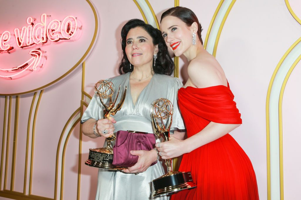 Alex Borstein and Rachel Brosnahan attend the Amazon Prime Video post-Emmy Awards party on September 17, 2018