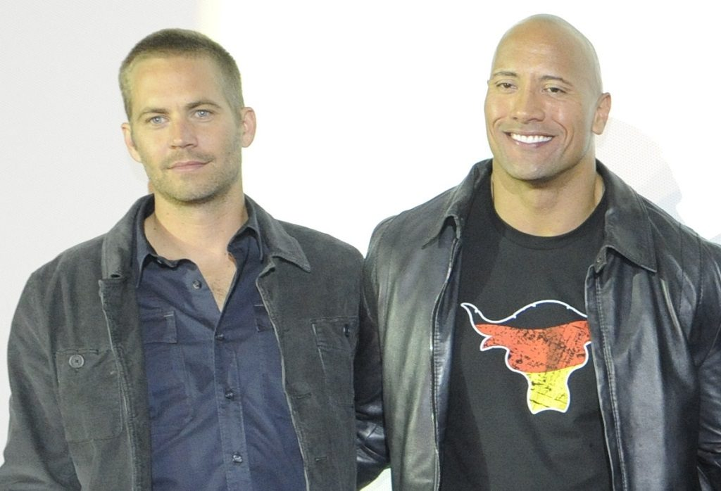 Paul Walker and Dwayne Johnson at the Fast Five Germany Premiere