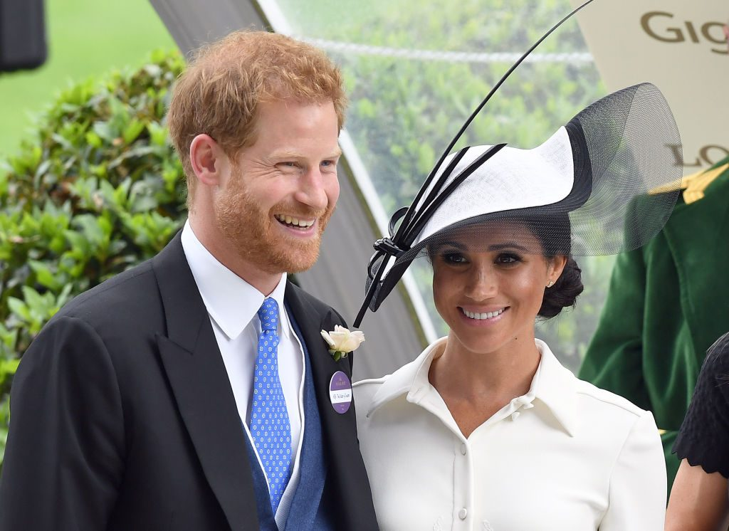 Prince harry and Meghan Markle attend the Royal Ascot