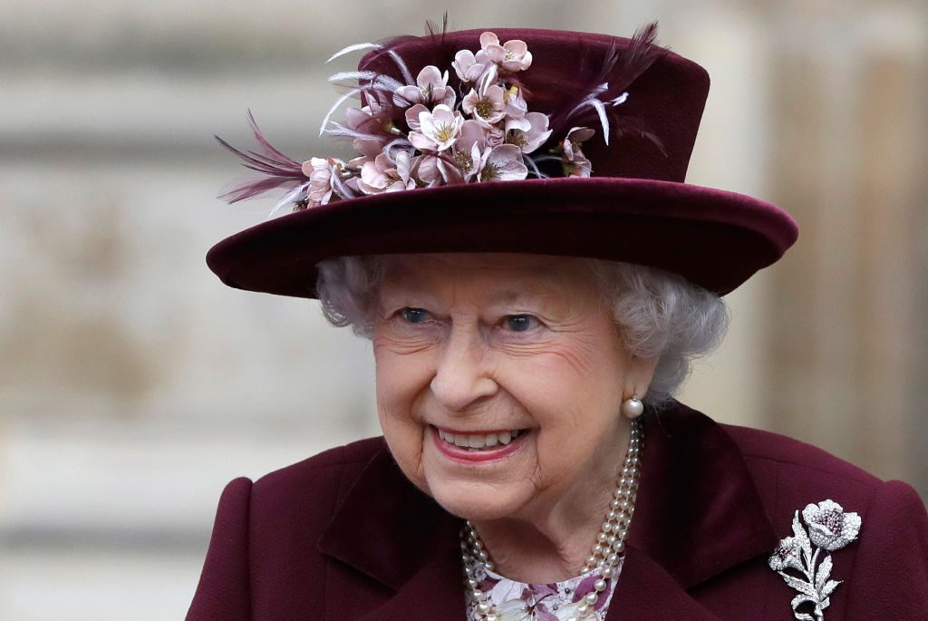 Queen Elizabeth attending an event at Westminster Abbey