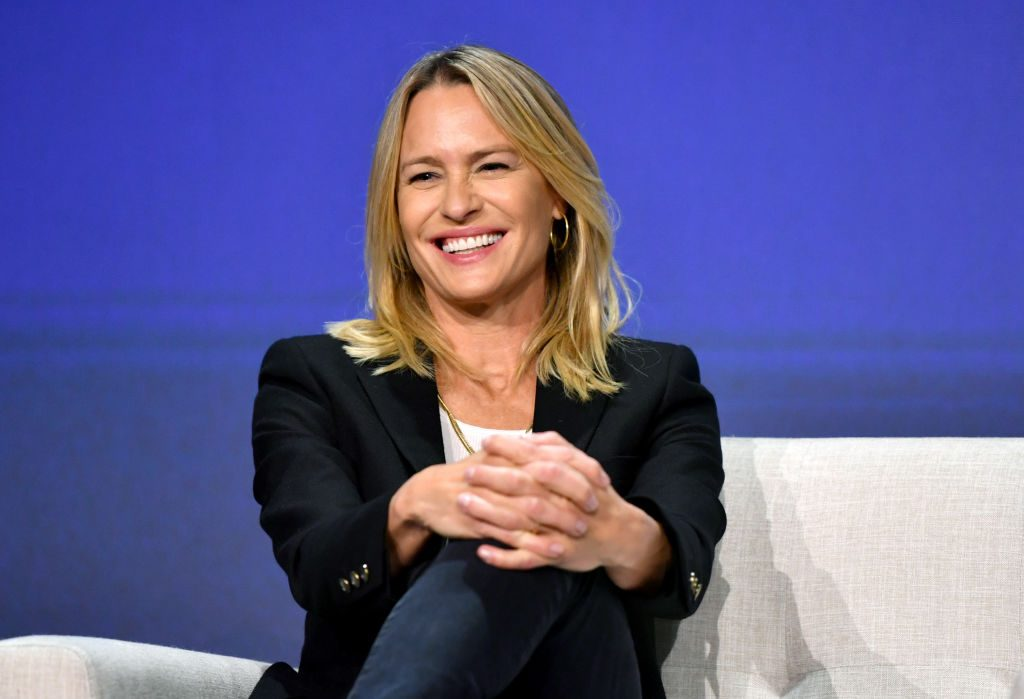 """Robin Wright speaks onstage at the Netflix """"House of Cards"""" FYSEE Event on June 04, 2019 in Los Angeles, California."""
