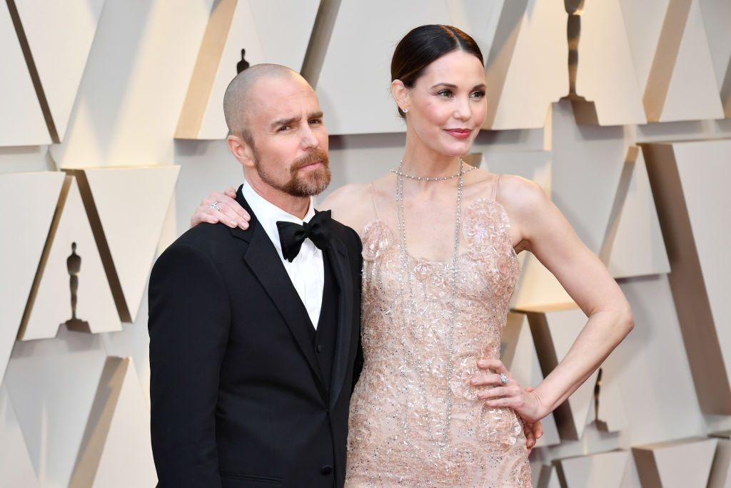 Sam Rockwell and Leslie Bibb at the 91st Academy Awards on February 24, 2019